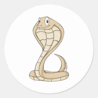 Friendly Cobra Round Sticker