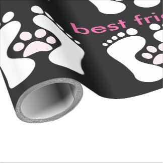 Friendly Dog Paw With Foott Designed-Best Friends
