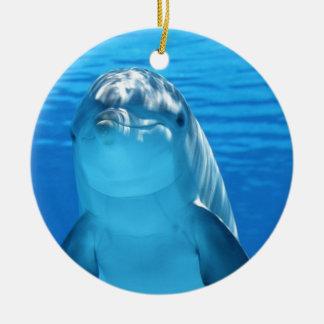 Friendly Dolphin Photo Ceramic Ornament
