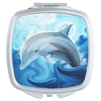 Friendly Dolphin Purse Mirror Makeup Mirrors