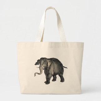 friendly elephant 🐘 large tote bag