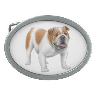 Friendly English Bulldog Belt Buckle