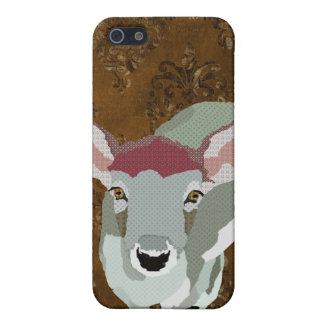 Friendly Fawn Damask iPhone 5 Case