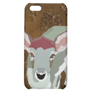 Friendly Fawn Damask iPhone 5C Covers