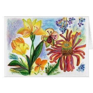 Friendly Festive Flowers Greeting Card