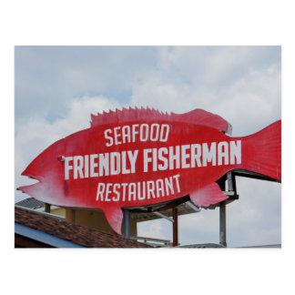 Friendly Fisherman Postcard