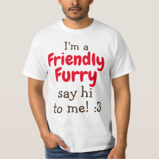 Friendly furry! double sided print T-Shirt