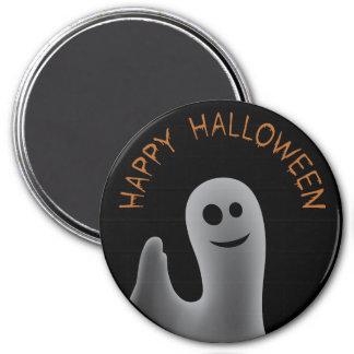 Friendly Ghost (Happy Halloween) 7.5 Cm Round Magnet