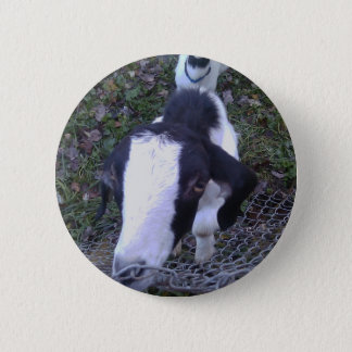 Friendly Goat 6 Cm Round Badge