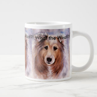 FRIENDLY GOLDEN COLLIE DOG LARGE COFFEE MUG