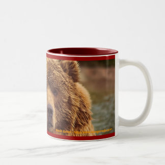 Friendly Grizzly Bear Two-Tone Coffee Mug