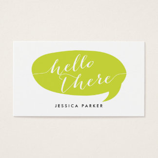 Friendly Hello Business Cards