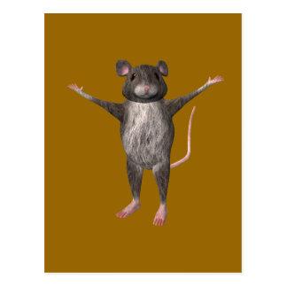 Friendly House Mouse Postcard