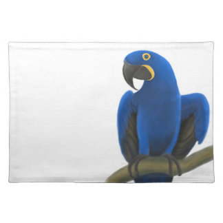 Friendly Hyacinth Macaw Parrot Placemat
