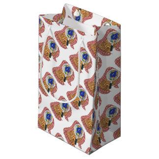 Friendly Intestine Probiotic Bacteria Mascot Small Gift Bag