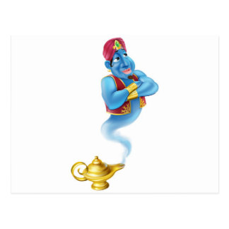 Friendly Jinn or genie and magic oil lamp Postcard