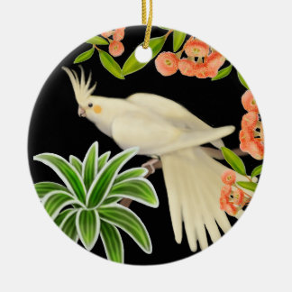 Friendly Lutino Cockatiel Ornament