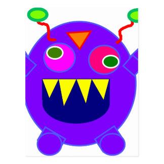 Friendly monster postcard