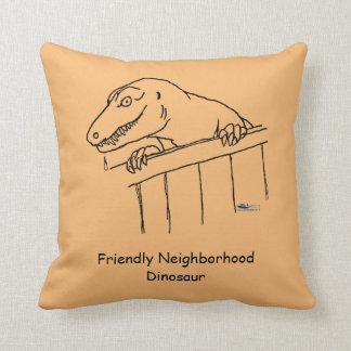Friendly Neighborhood Dinosaur Cushion