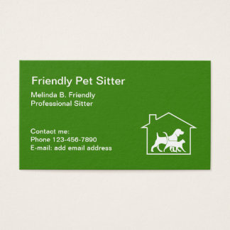 Friendly Pet Sitter Business Card