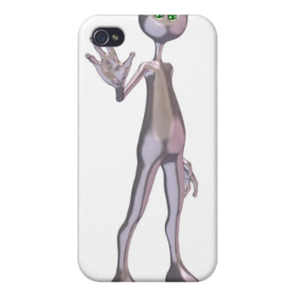 Friendly Pink Alien Covers For iPhone 4