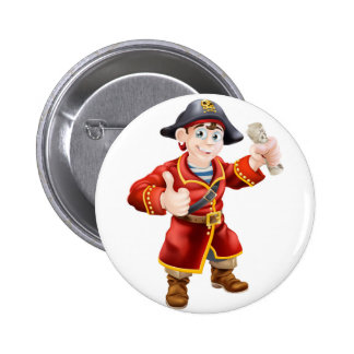 Friendly pirate and treasure map badges
