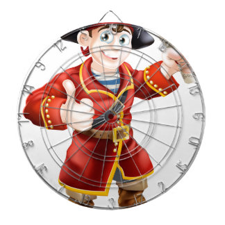 Friendly pirate and treasure map dartboards
