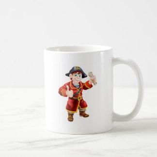 Friendly pirate and treasure map coffee mugs