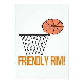 Friendly Rim 13 Cm X 18 Cm Invitation Card