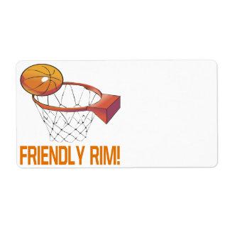 Friendly Rim Shipping Label
