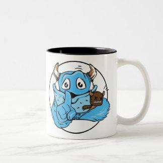 Friendly Shush Monster Two-Tone Coffee Mug