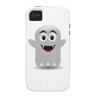 Friendly Smiling Cartoon Ghost Case-Mate iPhone 4 Cover