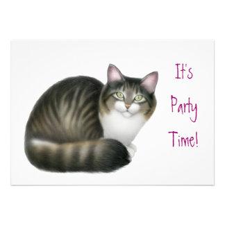 Friendly Tabby Cat Invitation