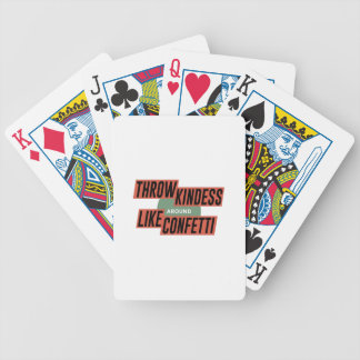 Friendly Understanding Caring Kind Bicycle Playing Cards