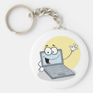 Friendly Waving Laptop Key Ring