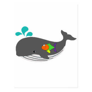 Friendly Whale Postcard