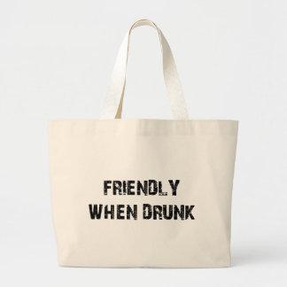 Friendly When Drunk Jumbo Tote Bag