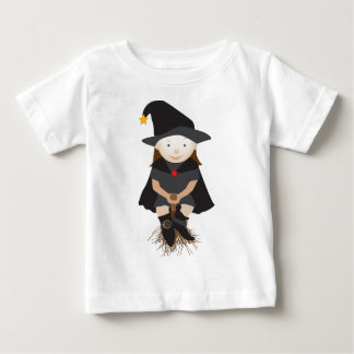 Friendly witch on a broom baby T-Shirt