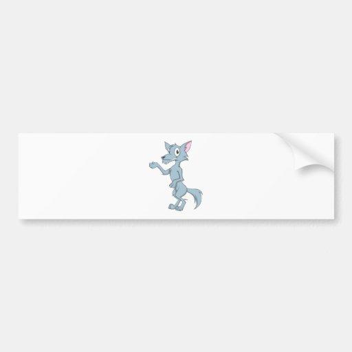 Friendly Wolf Bumper Sticker