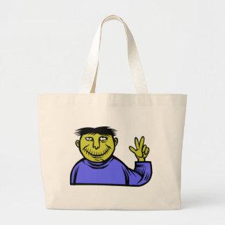 Friendly Zombie Jumbo Tote Bag