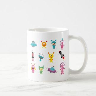 FriendlyAliensB Coffee Mugs