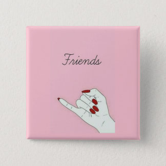 Friends 15 Cm Square Badge