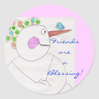 Friends are a Blessing Stickers