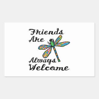 Friends Are Always Welcome Rectangular Sticker
