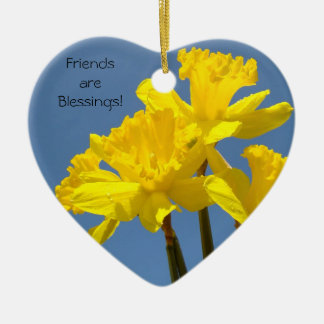 Friends are Blessings! ornament gifts Daffodils