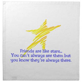 Friends Are Like Stars Printed Napkin