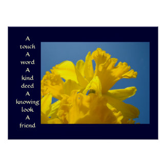 Friends art prints Healing Touch Spring Daffodils