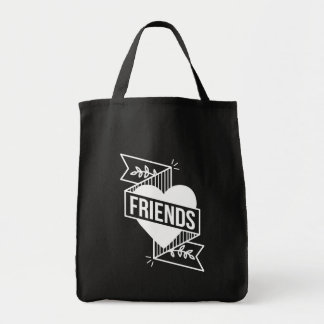 FRIENDS blk Tote Bag