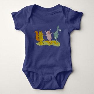 friends blue baby bodysuit