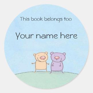Friends Book Plate Round Sticker